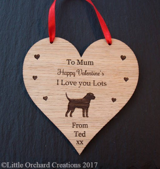 Border Terrier Valentine's Day Gift, Valentine's Gift for Dog Lovers