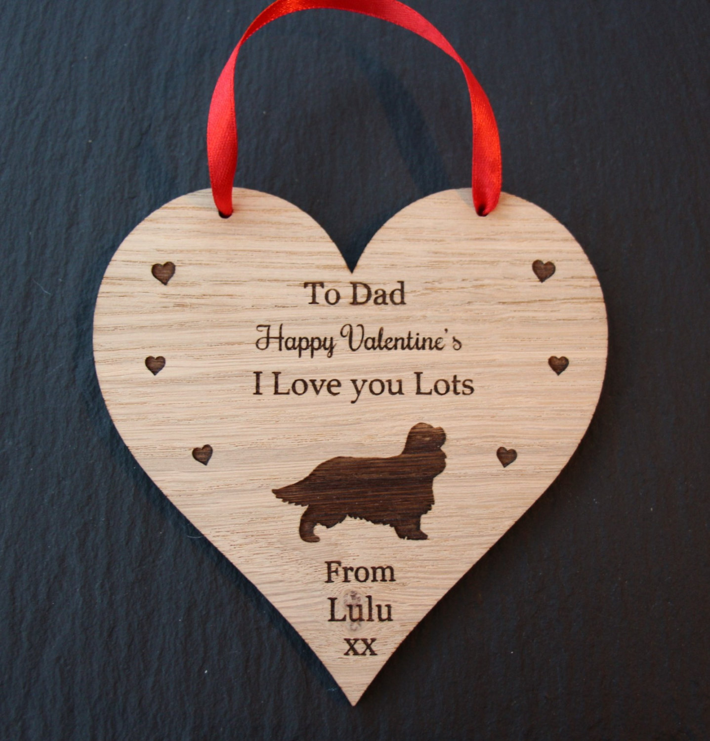 Cavalier King Charles Spaniel Valentine's Gift, Valentine's Gift for Dog Lovers