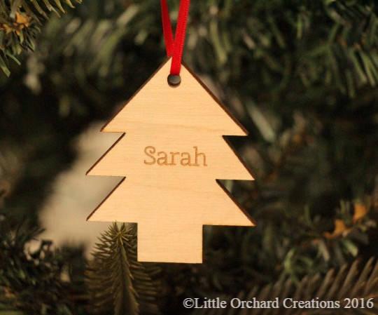 Christmas Tree Decoration, Personalised Tree Decoration