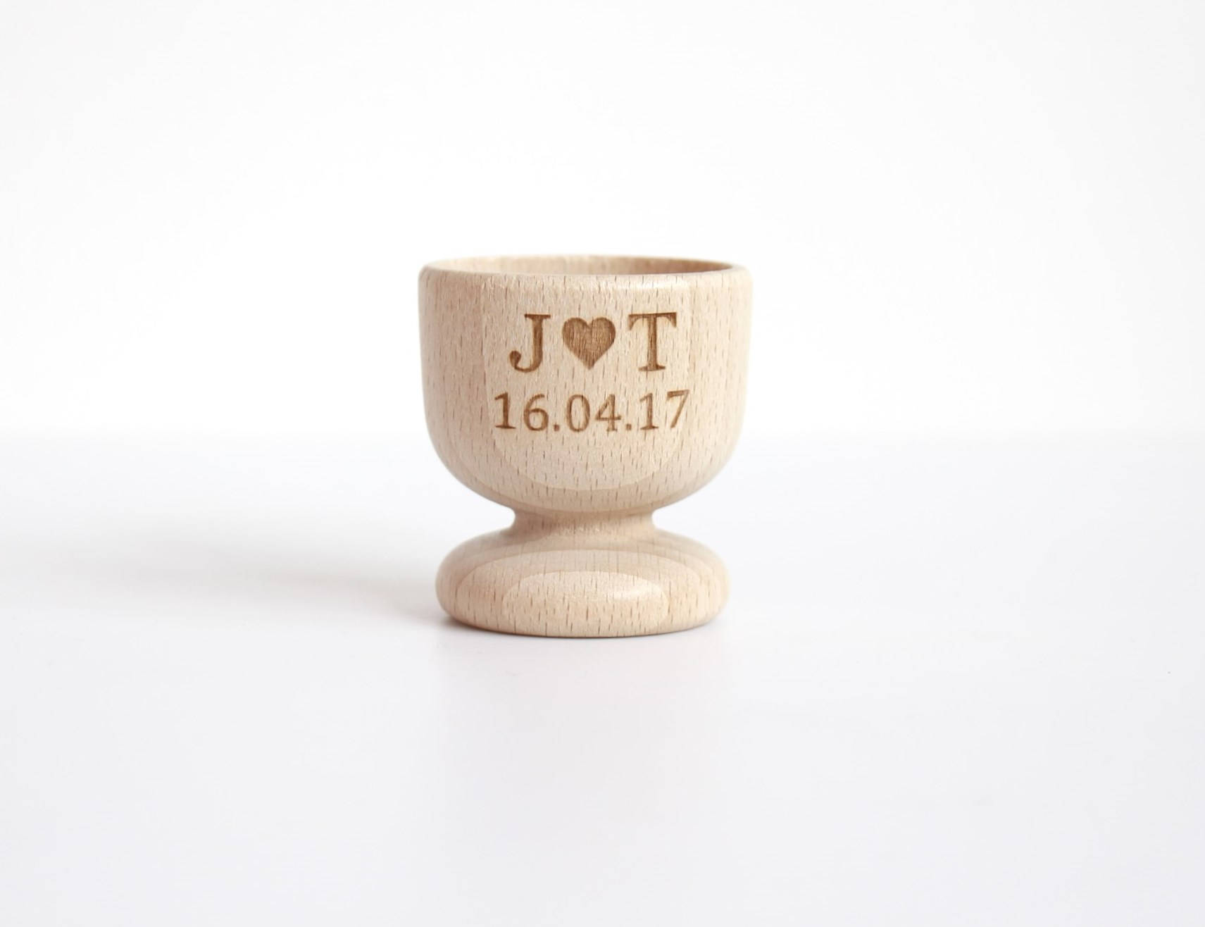 Custom Wedding Favours, Personalised Wood Egg Cups