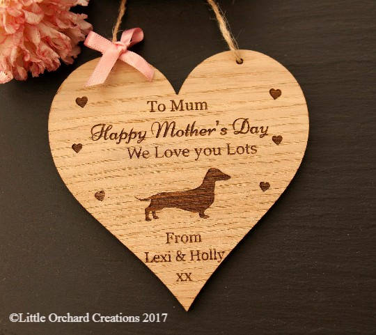 Dachshund Mother's Day Gift, Mother's Day Gift from the Dog