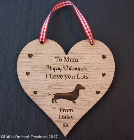 Dachshund Valentine's Day Gift, Valentine's Gift for Dog Lovers