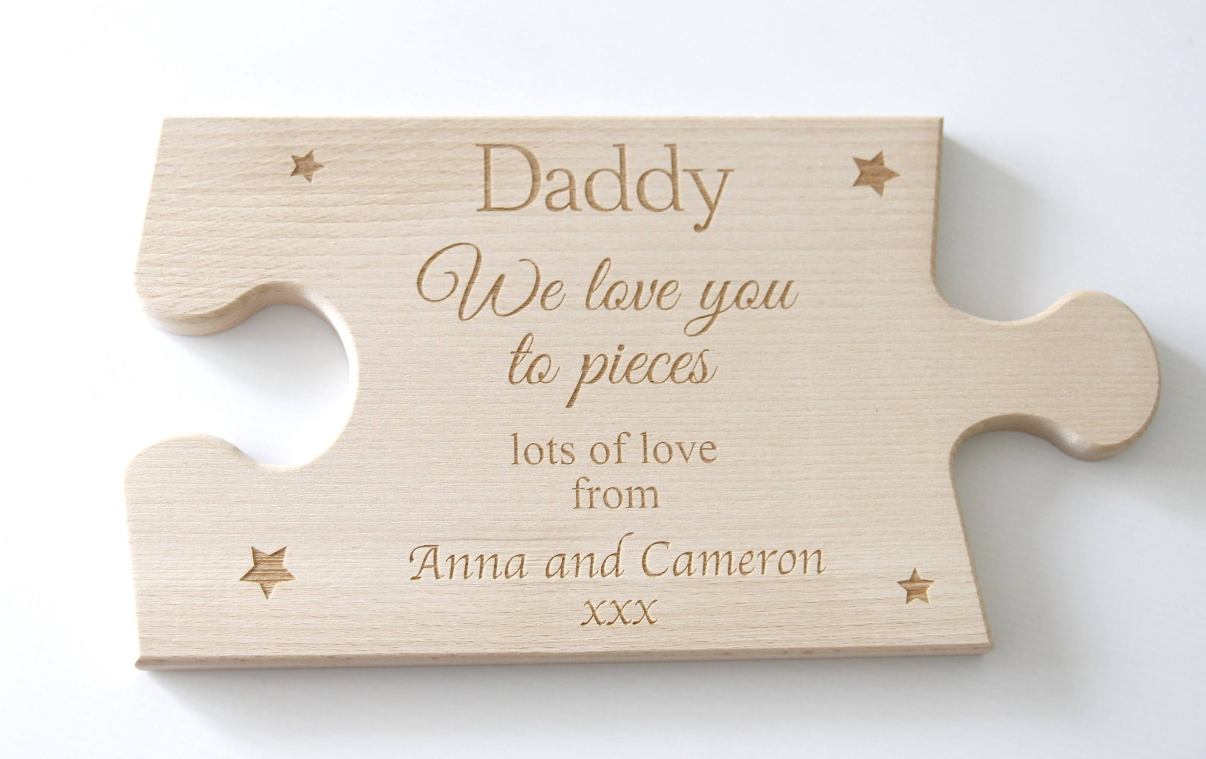 Father's Day Gift personalised, Dad We love you to pieces