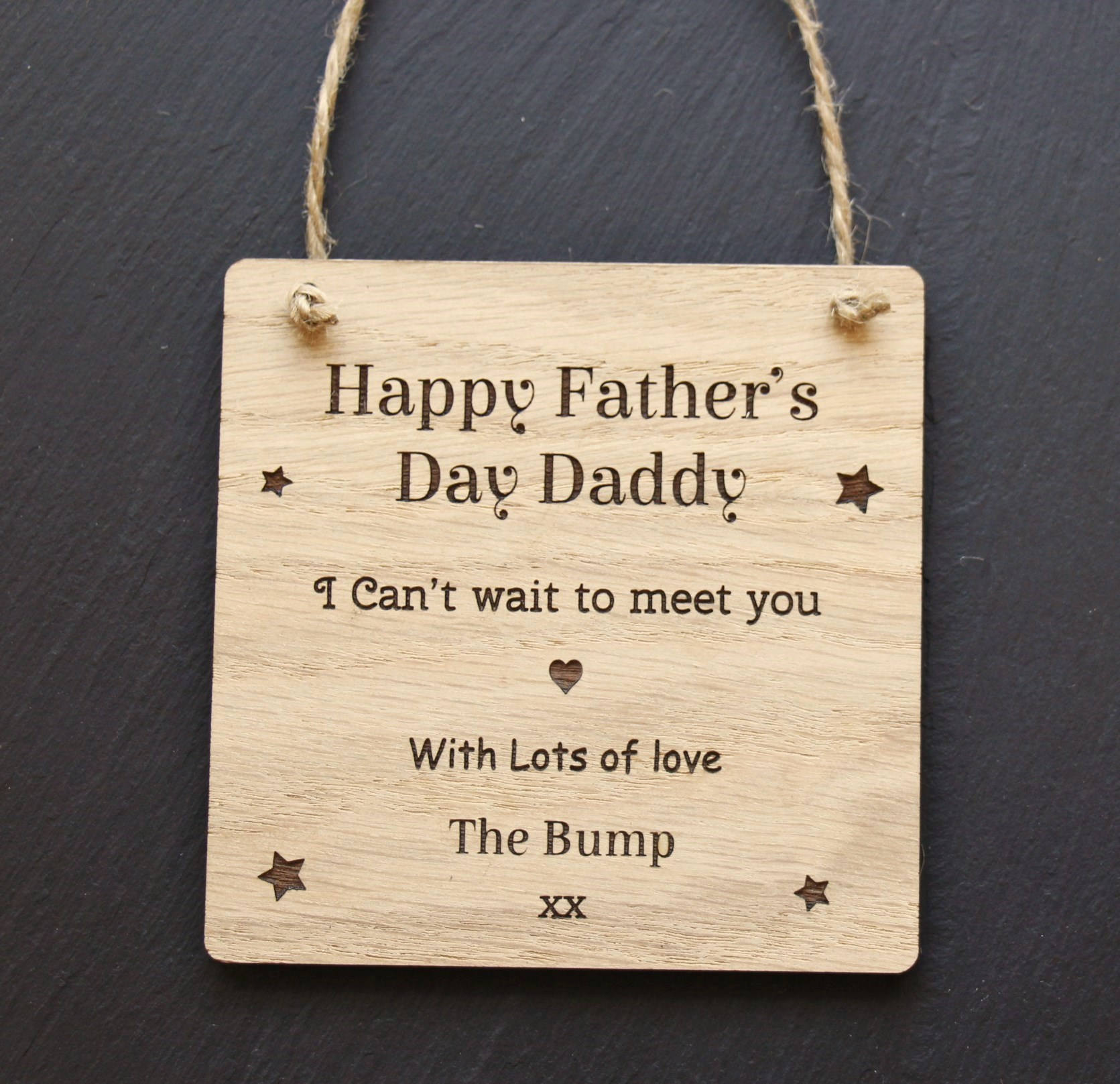 Happy Father's Day Love from The Bump Plaque, Personalised Father's Day Gift from The Bump