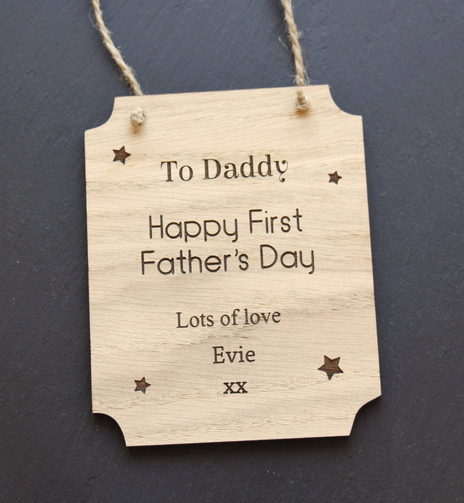 Happy First Father's Day Plaque, First Father's Day Keepsake