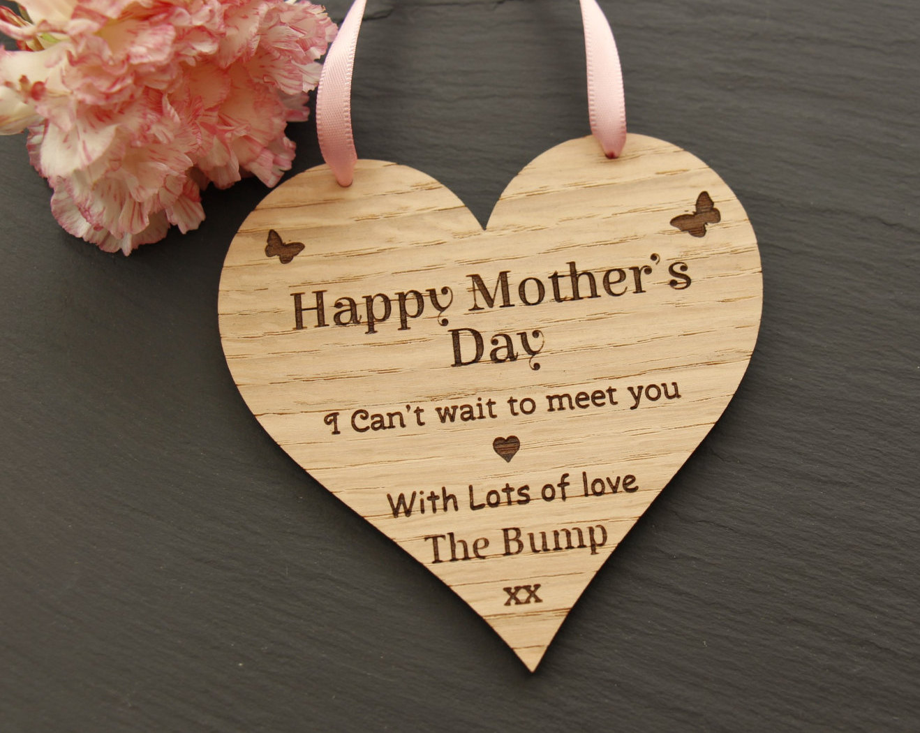 Happy Mother's Day Love from the Bump Plaque, Mother's Day Gift from the Bump