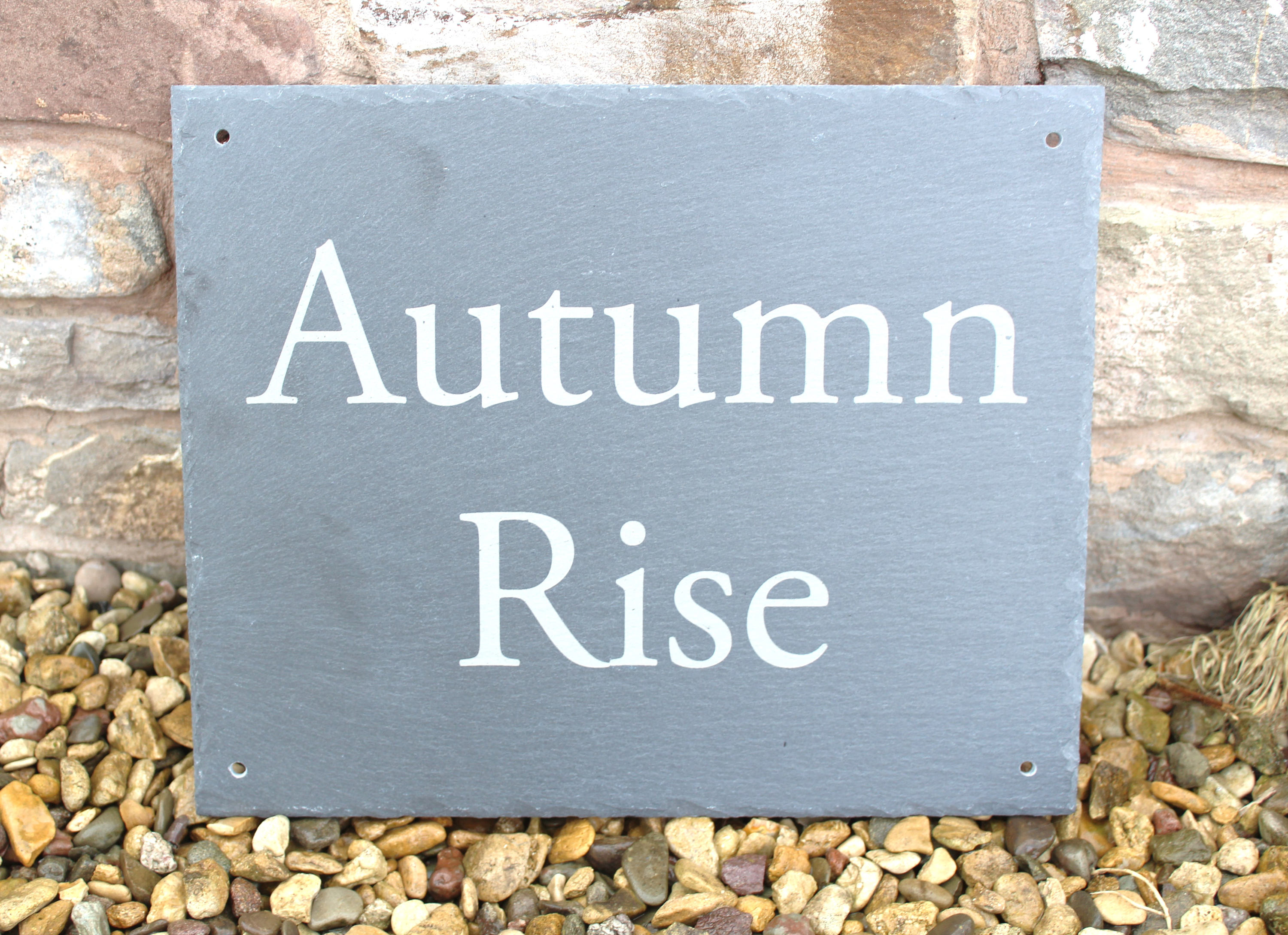 Large Outdoor Slate Plaque/Sign, Slate House Sign