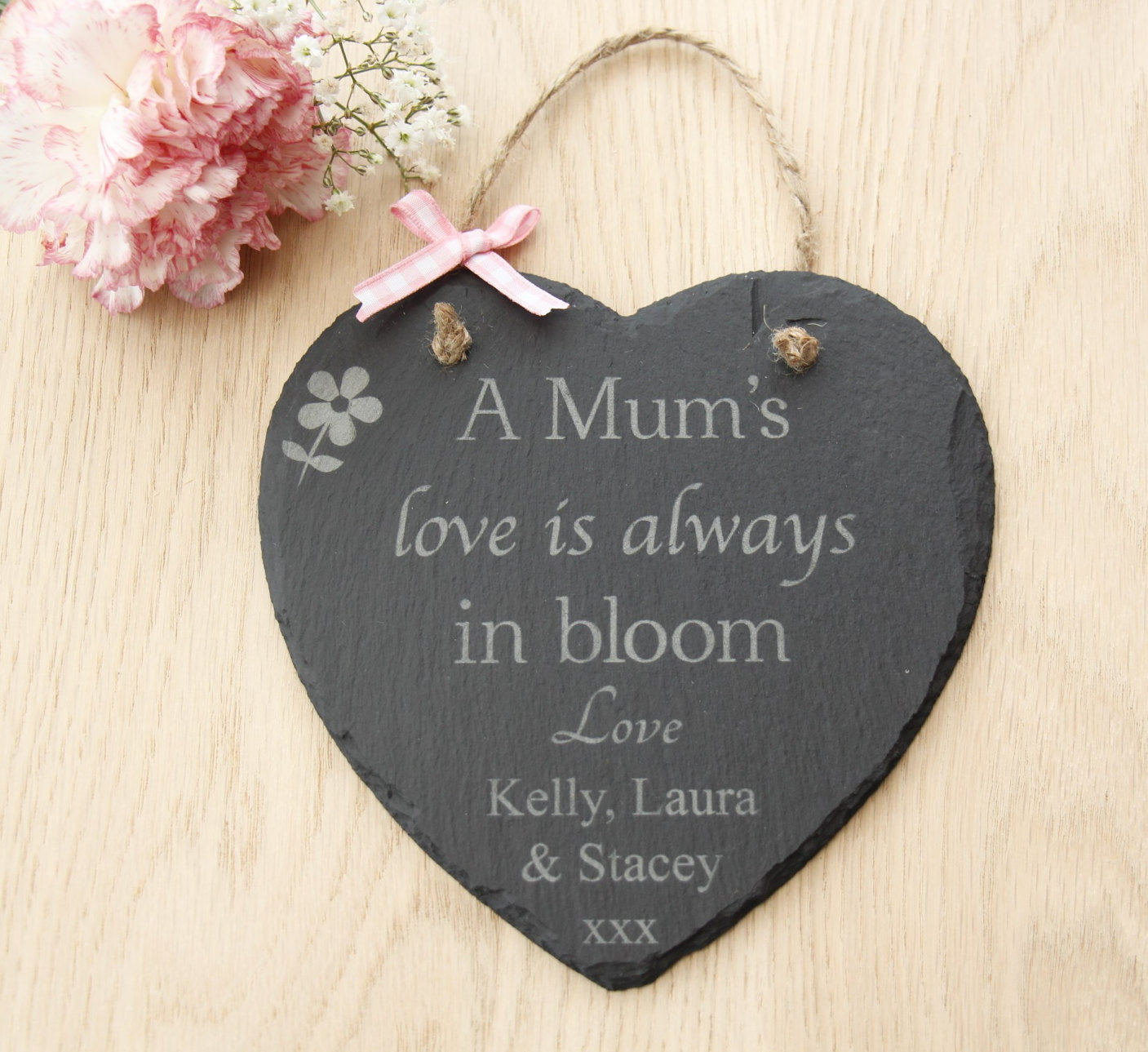 Mother's Day Gift, Personalised Mother's Day Heart Slate Plaque