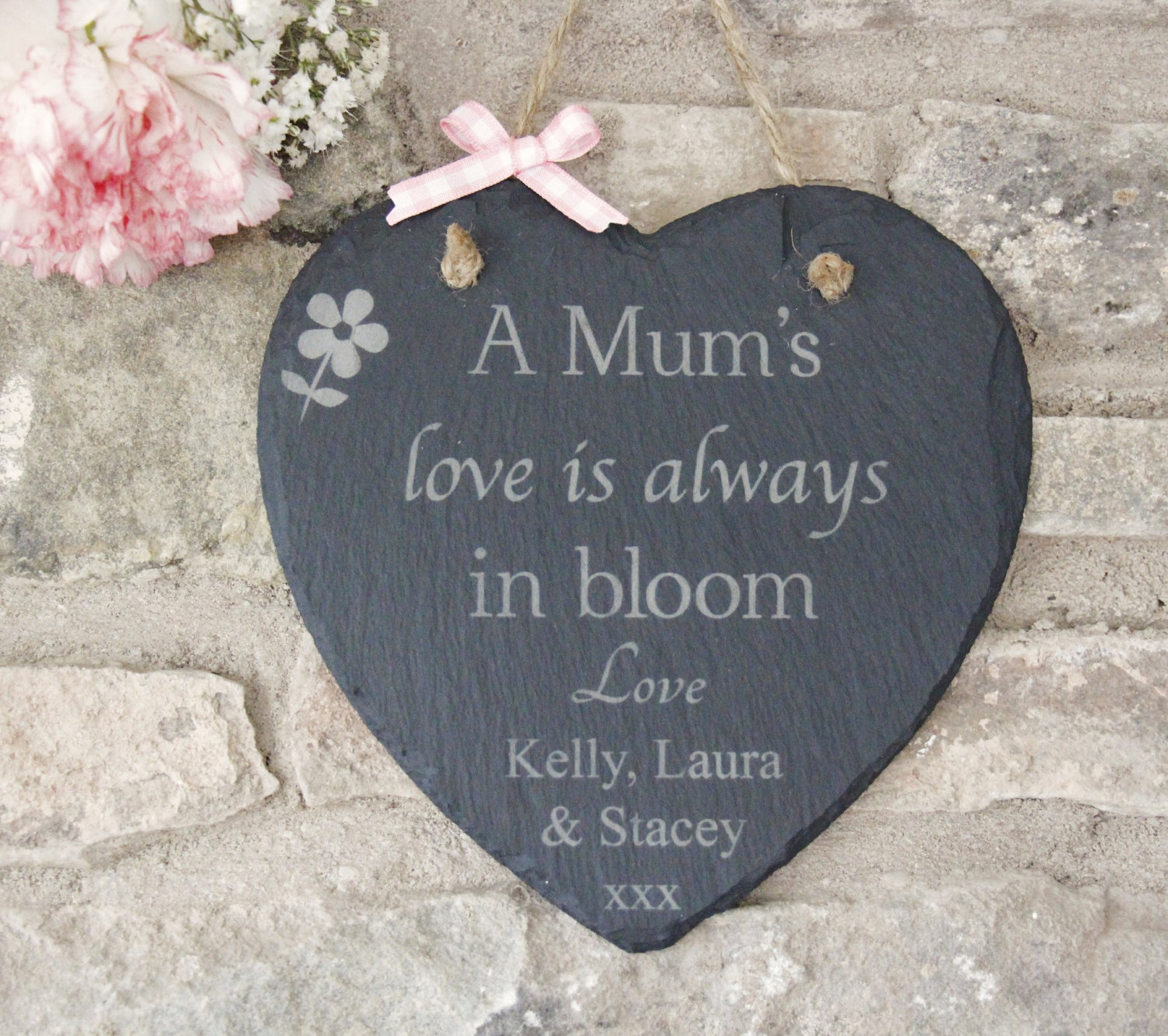 mother s day gift personalised mother s day heart slate plaque