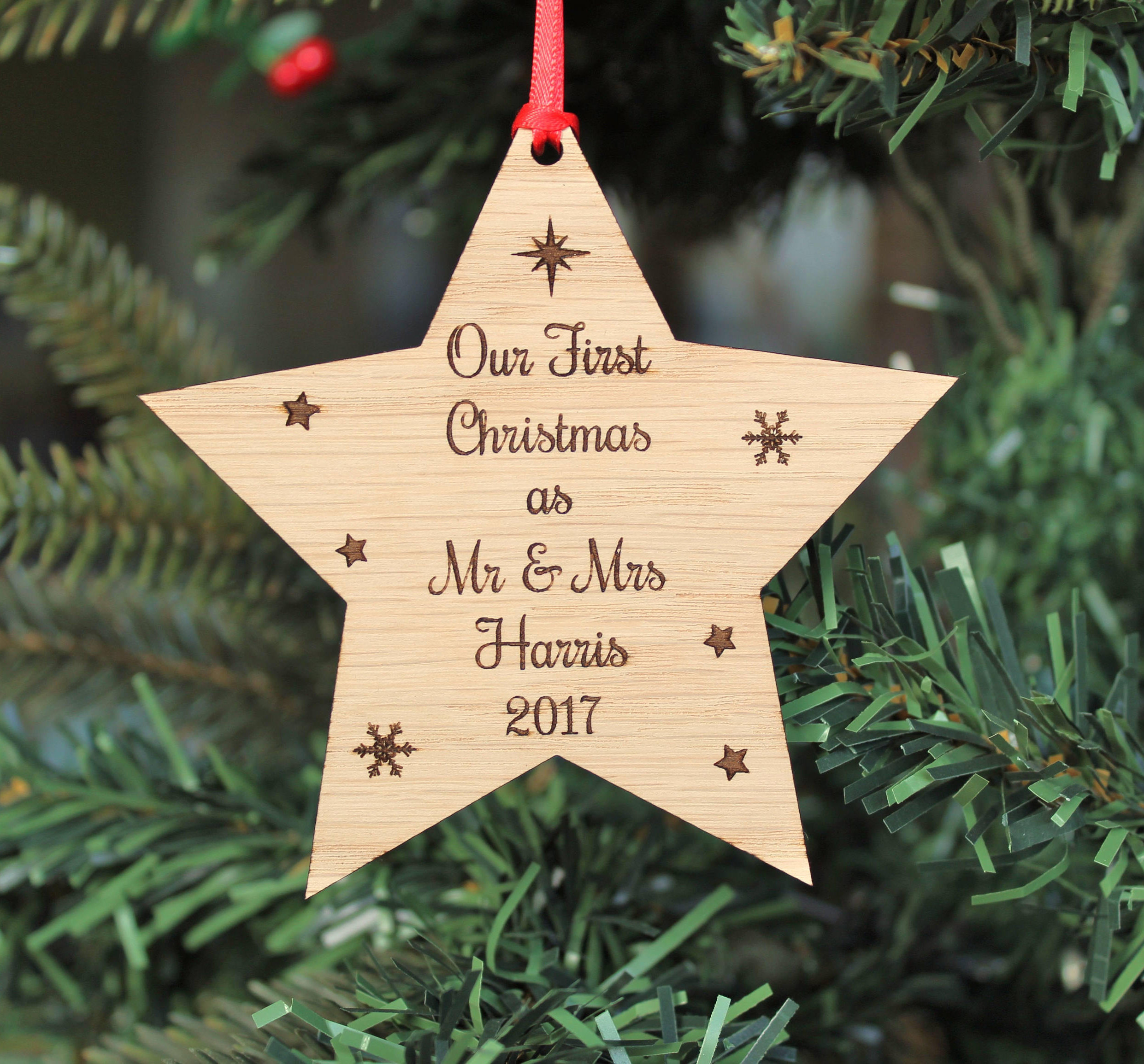 Our First Christmas Decoration, Mr & Mrs First Christmas Tree Decoration