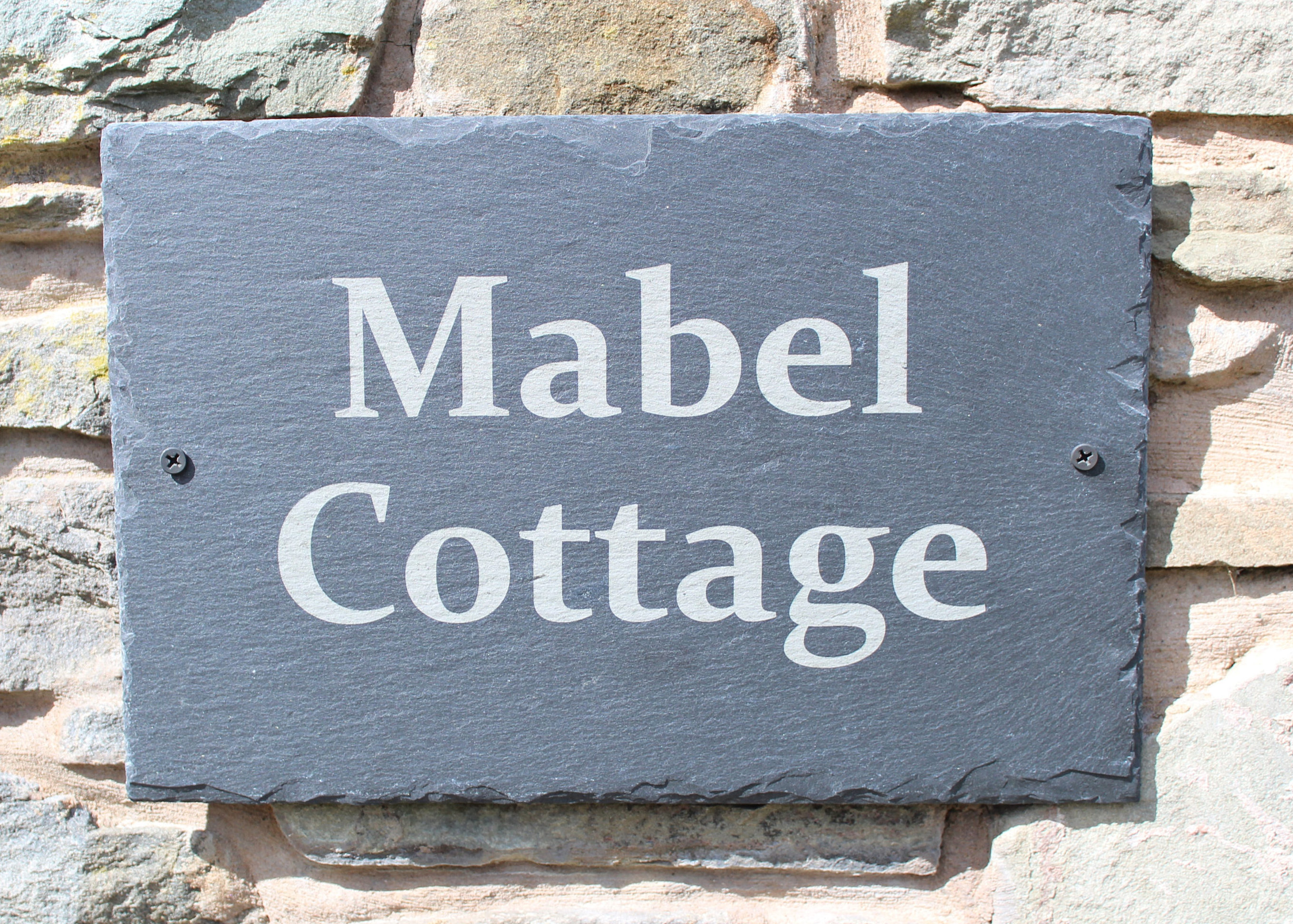 Outdoor Slate House Plaque, Slate House Name Plaque