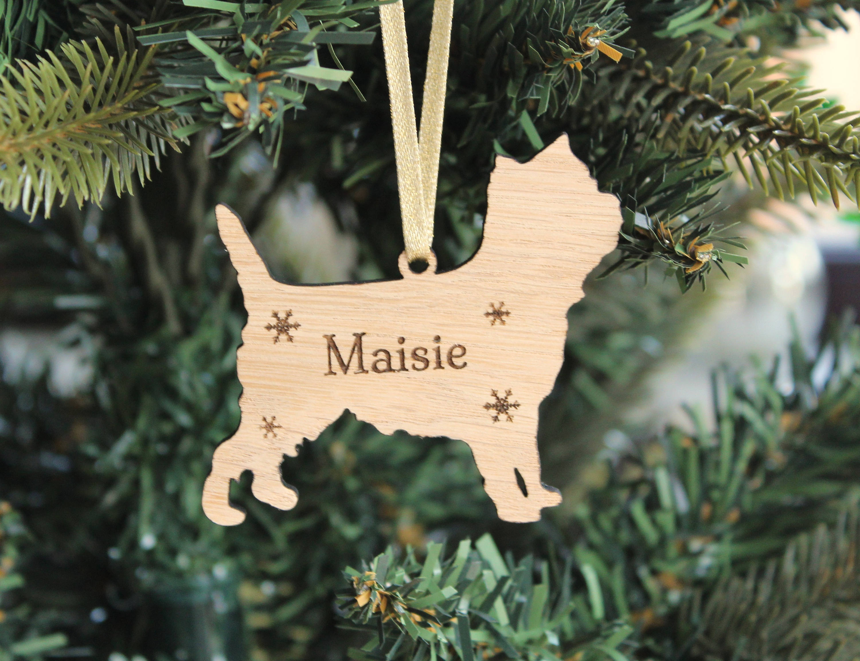 Personalised Cairn Terrier Decoration, Cairn Terrier Christmas tree decoration