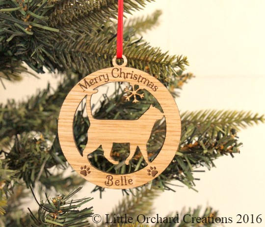 Personalised Cat Decoration, Cat Christmas Decoration