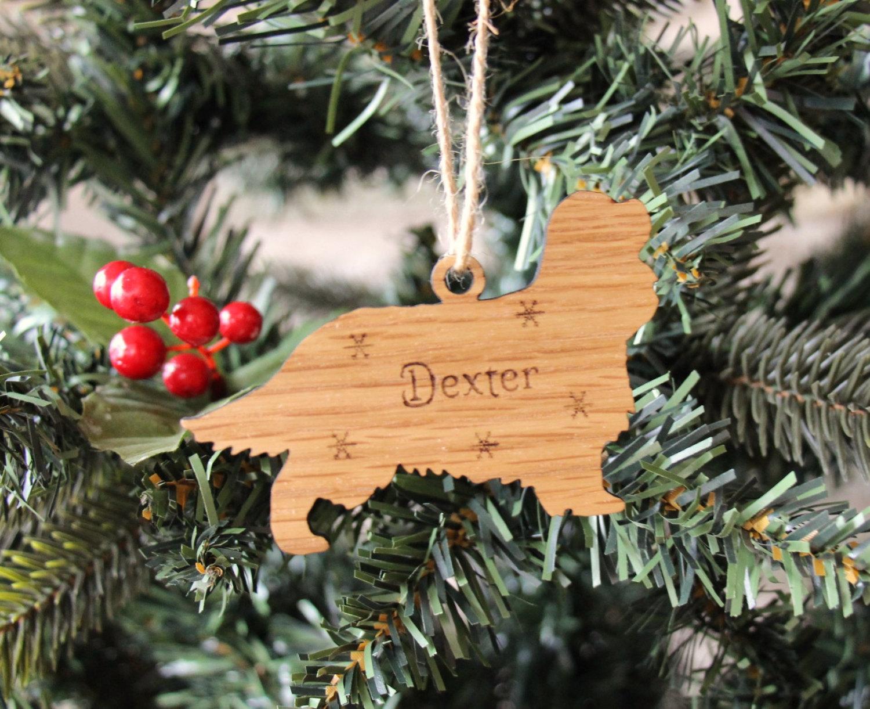 Personalised Cavalier King Charles Spaniel Decoration, Cavalier King Charles Spaniel Christmas Decoration
