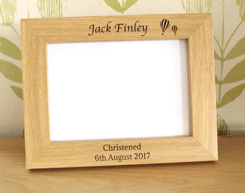 Personalised Christening Photo Frame, Christening Photo Frame