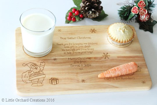 Personalised Christmas Eve Board, Santa Treat Board