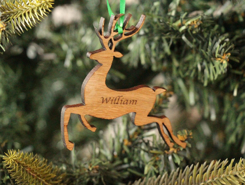 Personalised Christmas Reindeer Decoration, Christmas Tree Decoration