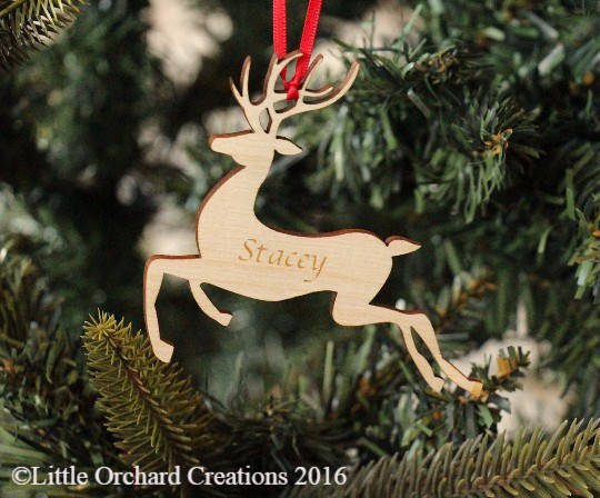 personalised christmas reindeer tree decoration christmas tree decoration