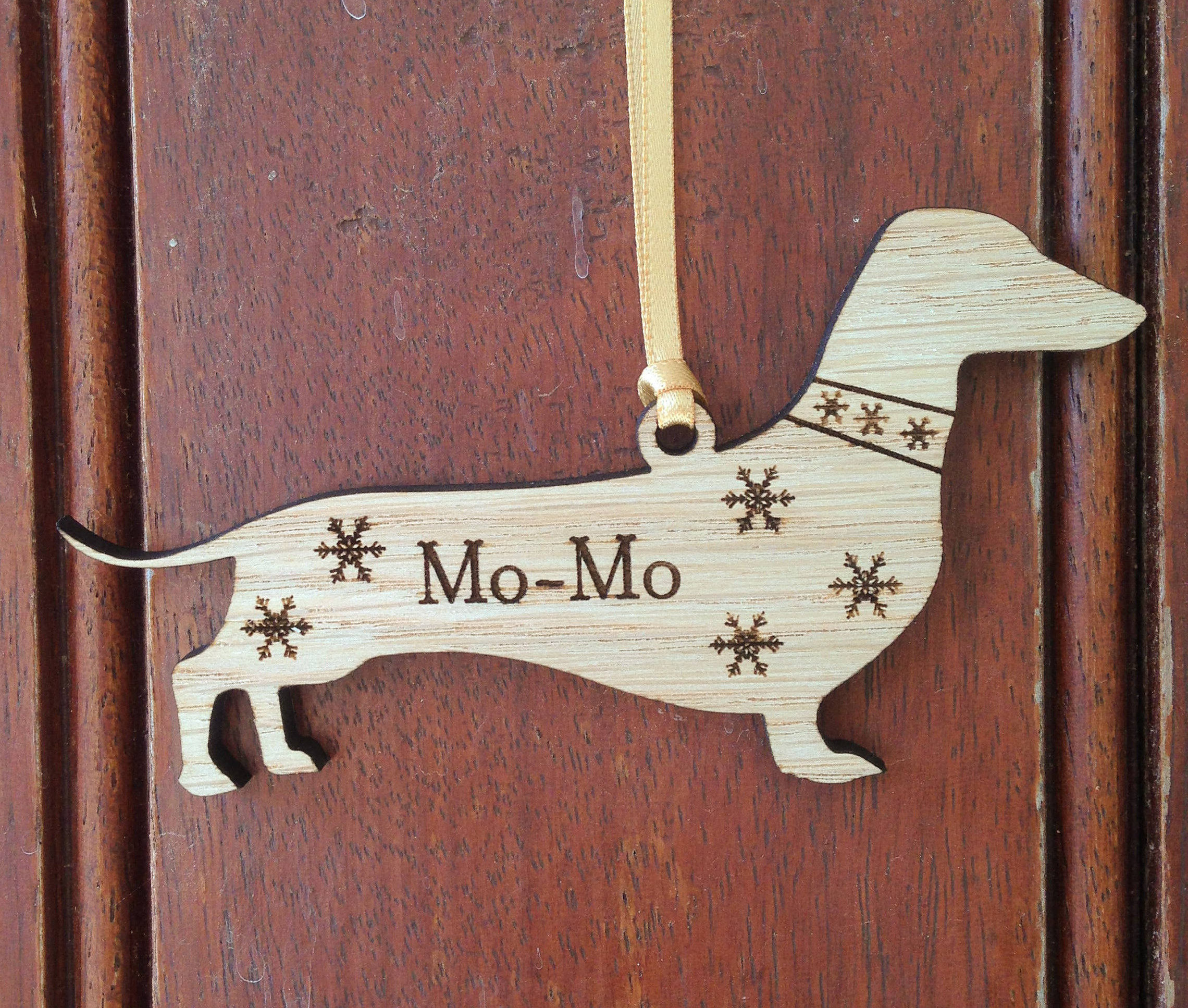 Personalised Dachshund Decoration, Dachshund Christmas Decoration