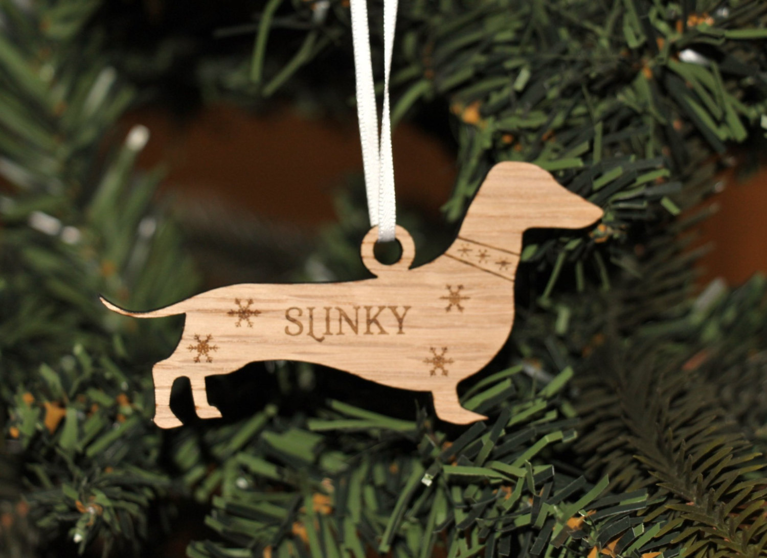 personalised dachshund decoration dachshund christmas decoration