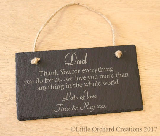Personalised Dad Thank you for everything slate plaque, Dad Slate Plaque