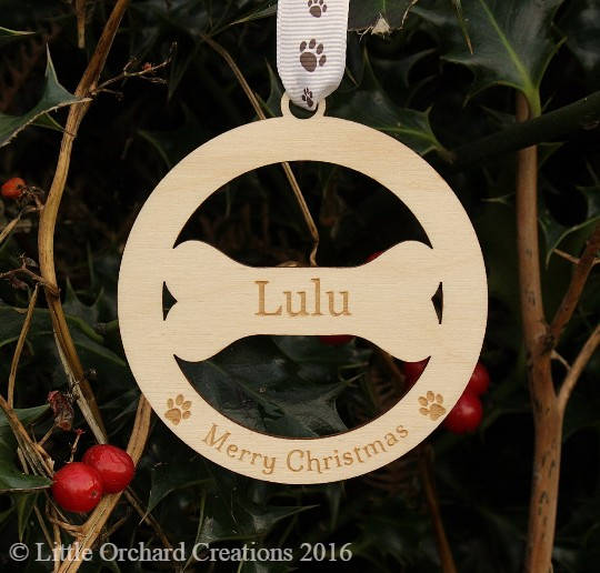 Personalised Dog Decoration, Dog Christmas Decoration