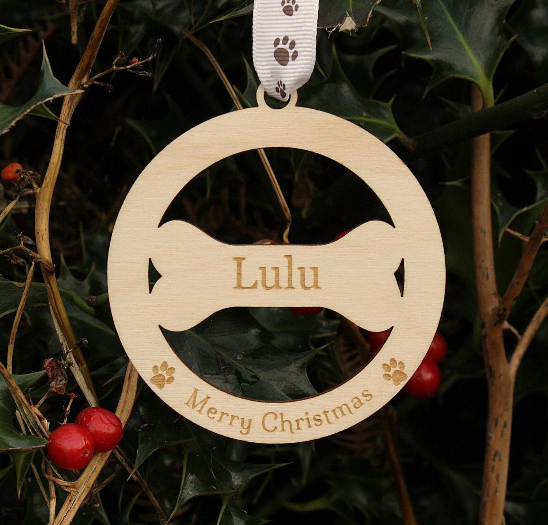 Personalised Dog Decoration, Dog Christmas Decoration