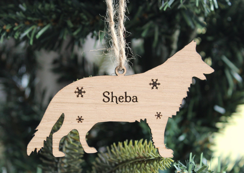 Personalised German Shepherd Decoration, German Shepherd Christmas Tree Decoration