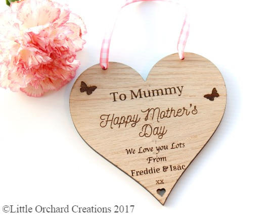 Personalised Mother's Day Gift, Mother's Day Heart Plaque