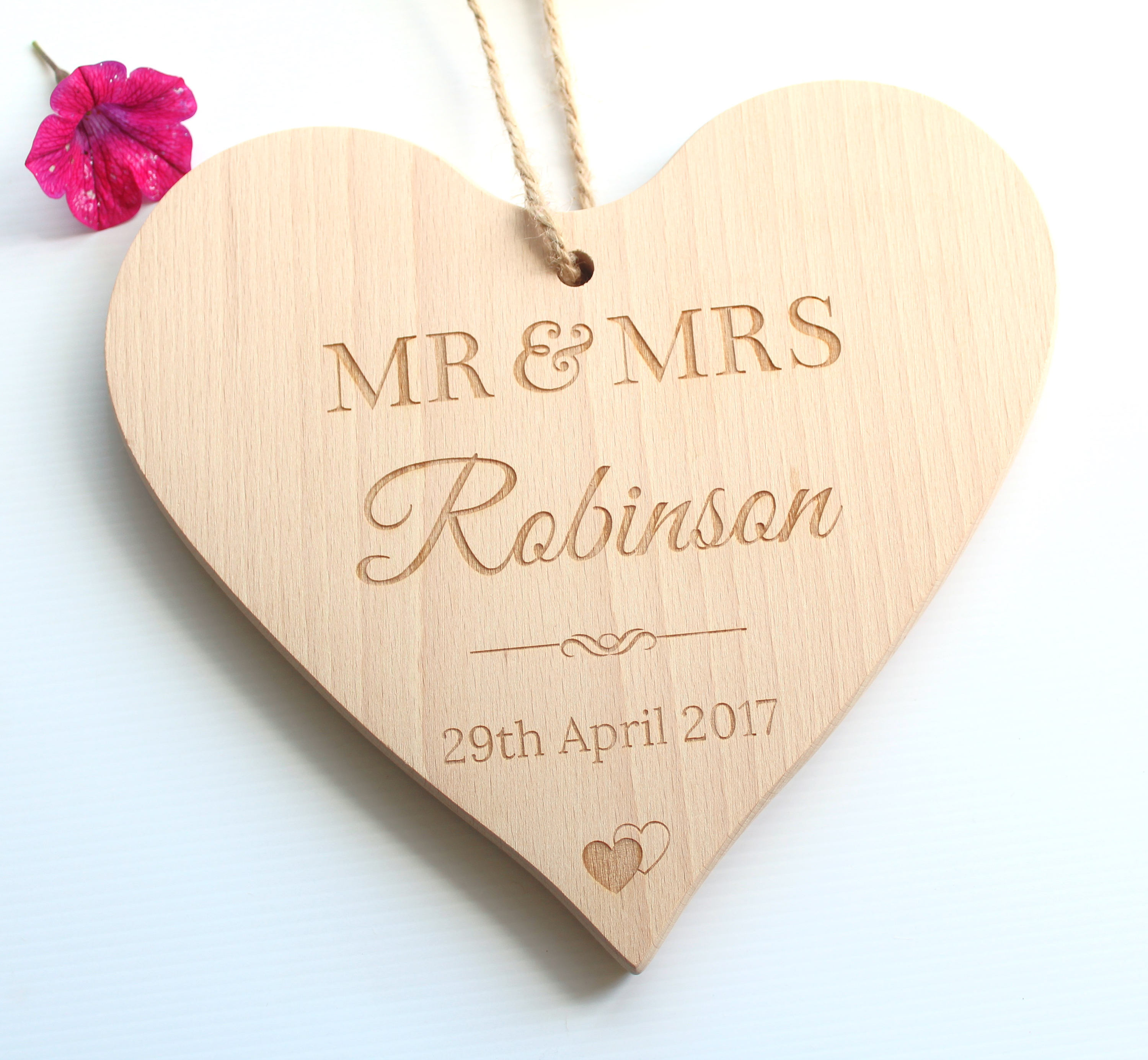 Personalised Mr & Mrs Wedding Gift, Mr and Mrs wooden chopping board