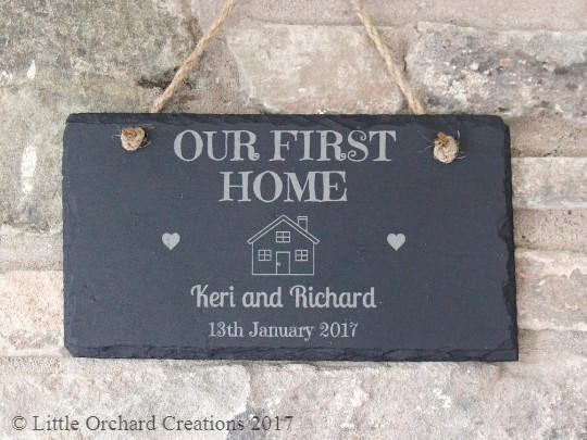 Personalised New Home Gift, Personalised New Home Plaque