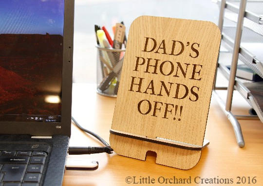 Personalised Phone Holder, Wooden Phone Holder