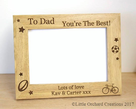 Personalised Photo frame, Father's Day Photo frame