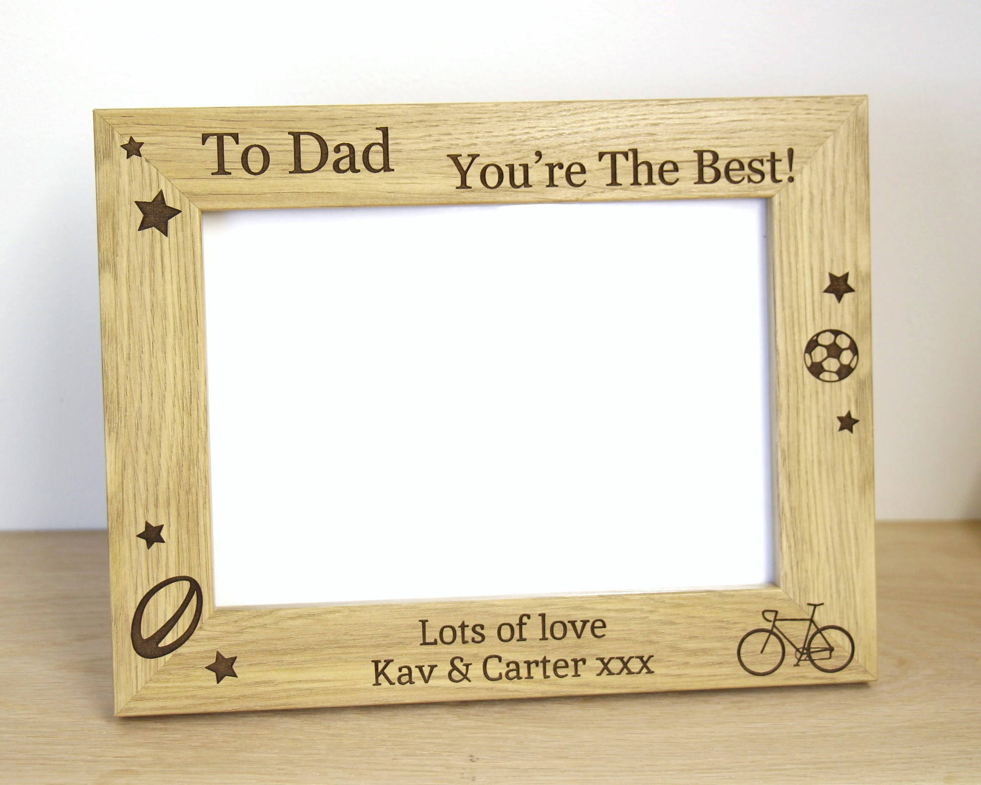 Personalised Photo frame, Father\'s Day Photo frame – Little Orchard ...