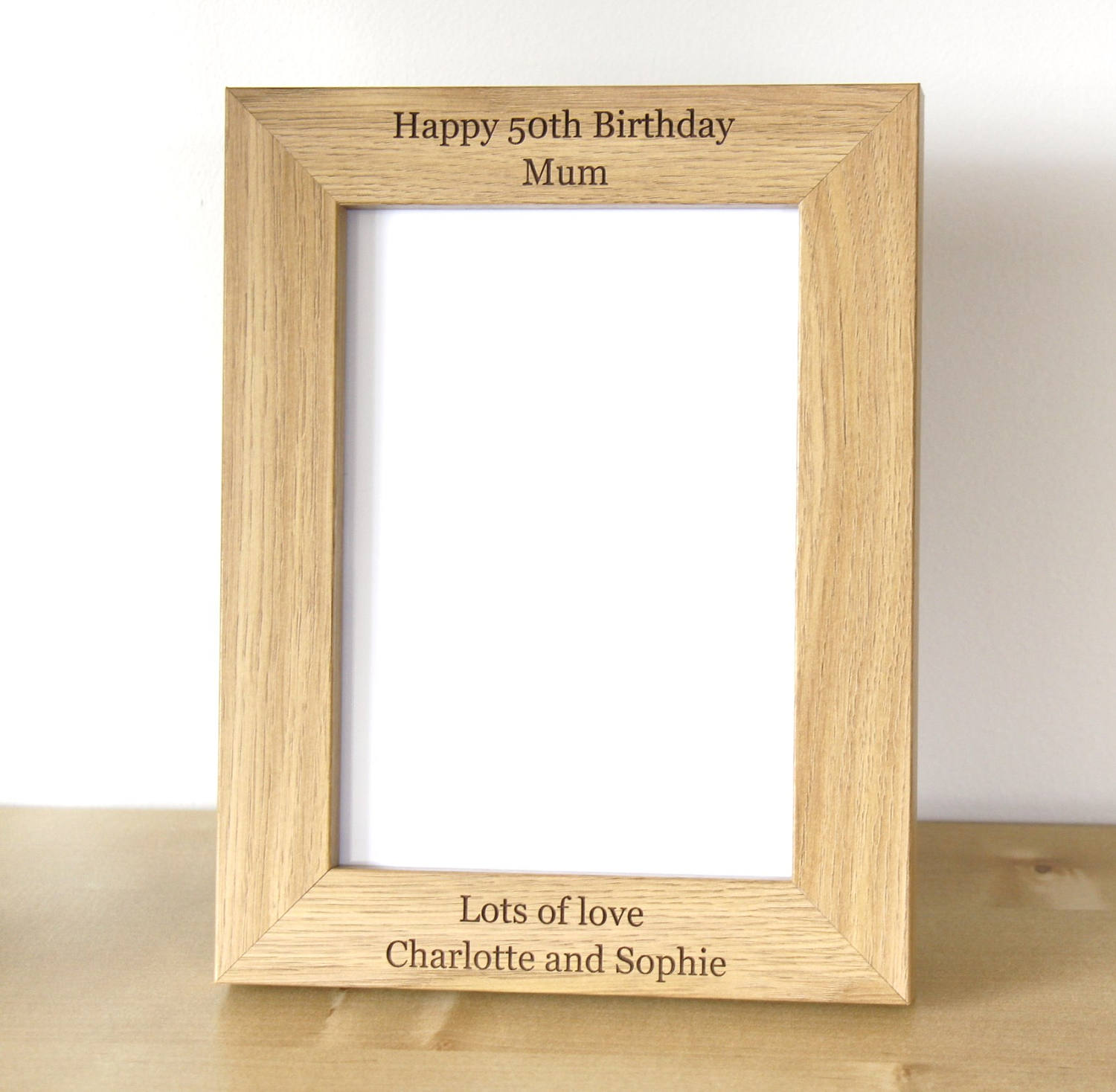 Personalised Photo Frame, Wooden Photo Frame