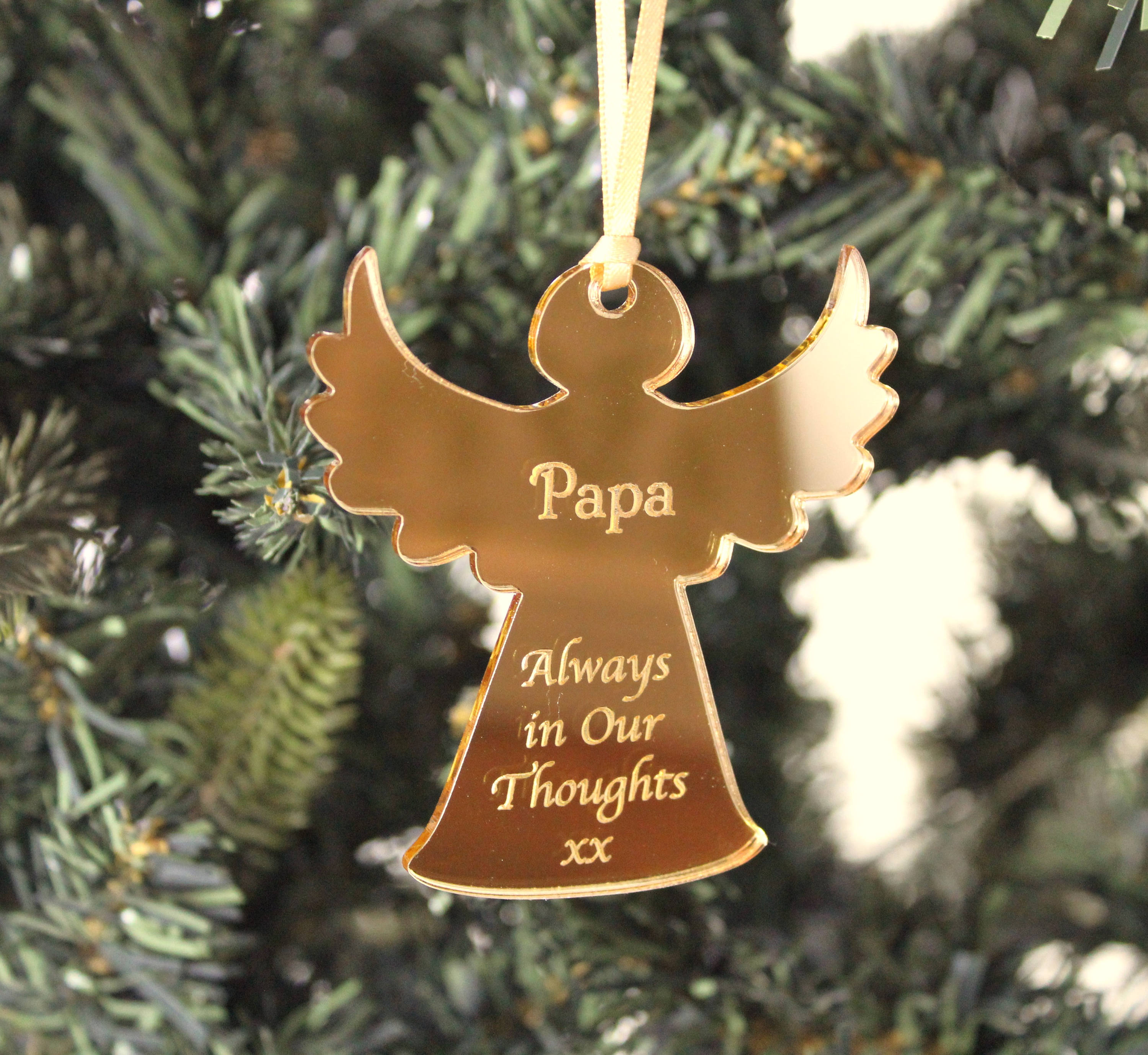 Personalised Remembrance Angel Christmas Decoration, Angel Ornament