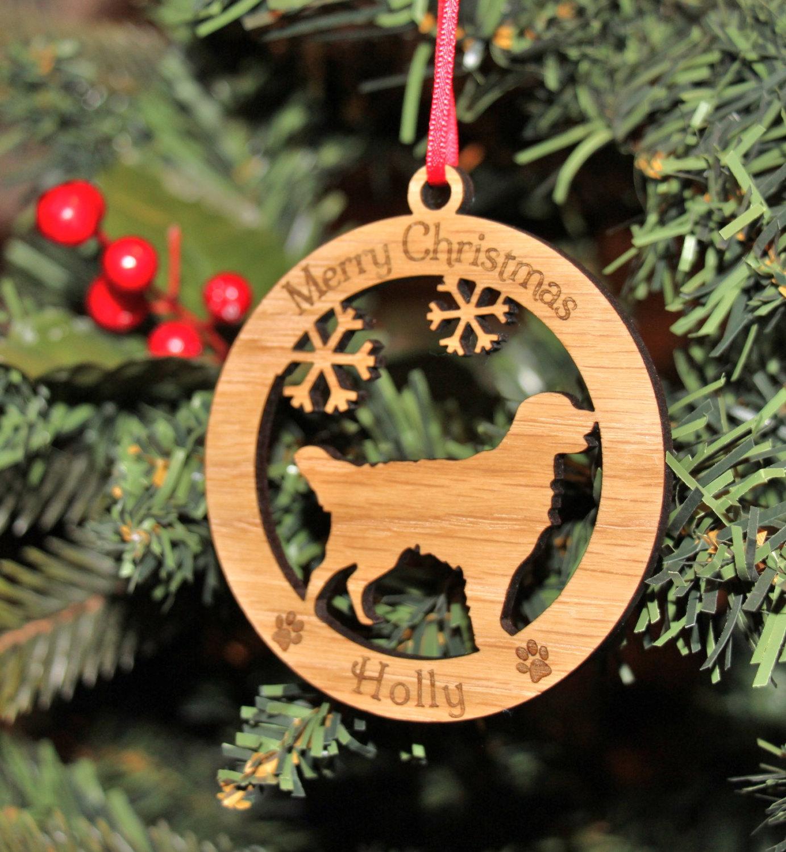 Personalised Retriever Dog Bauble, Personalised Dog Decoration