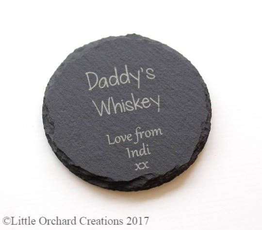Personalised Slate coaster, Daddy's Whiskey Slate coaster