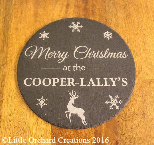 Personalised Slate Plaque, Christmas Plaque