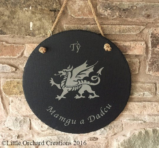 Personalised Slate Plaque, Hanging Slate Plaque
