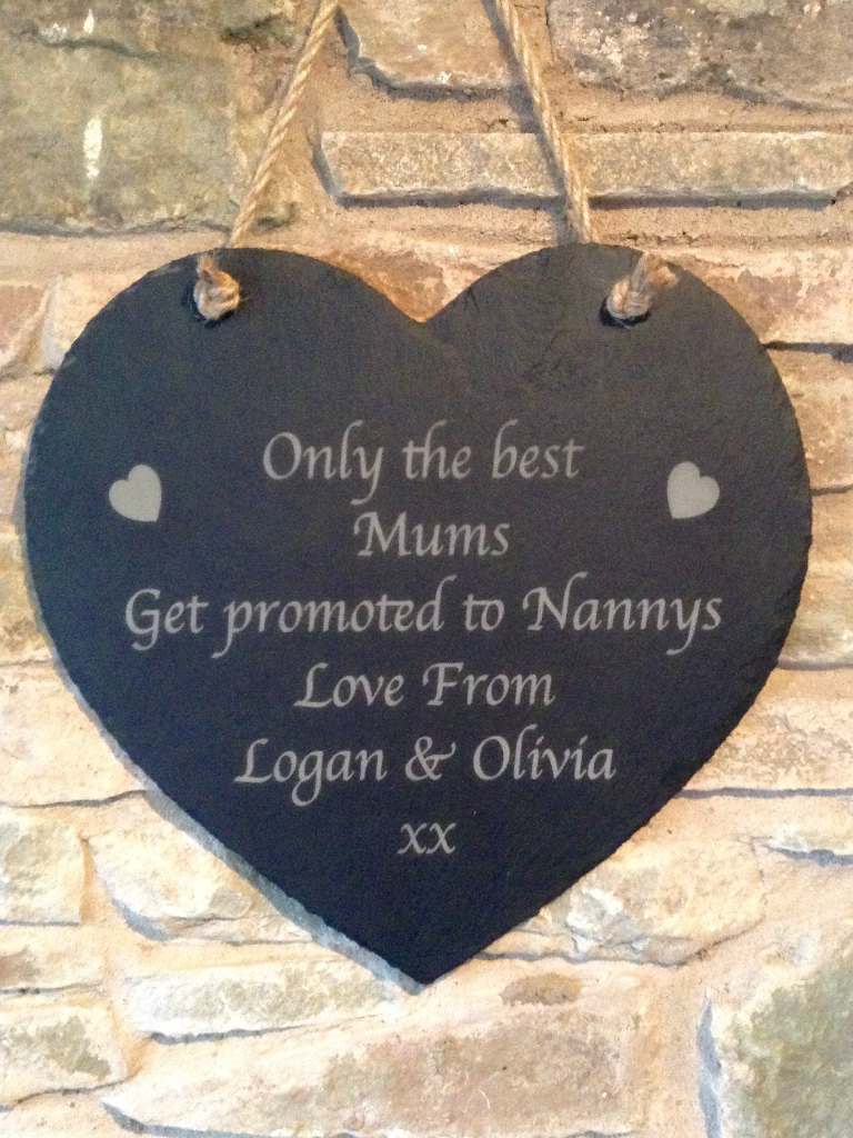Personalised Slate Plaque, Mum Plaque