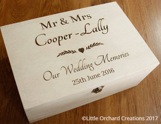 Personalised Wedding Memories Box, Wedding Keepsake Box