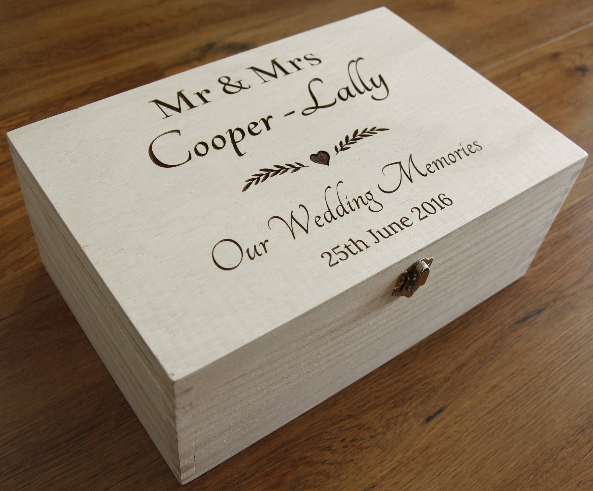 Personalised Wedding Memories Box, Wedding Keepsake Box