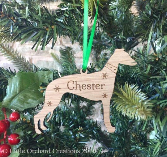 Personalised Whippet Decoration, Whippet Decoration