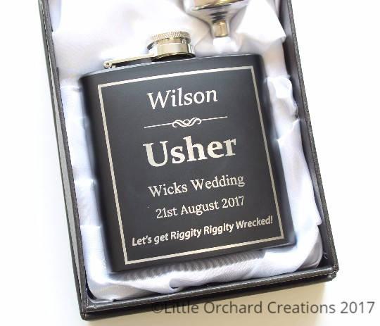 Usher Hip Flask, Best Man Hip Flask