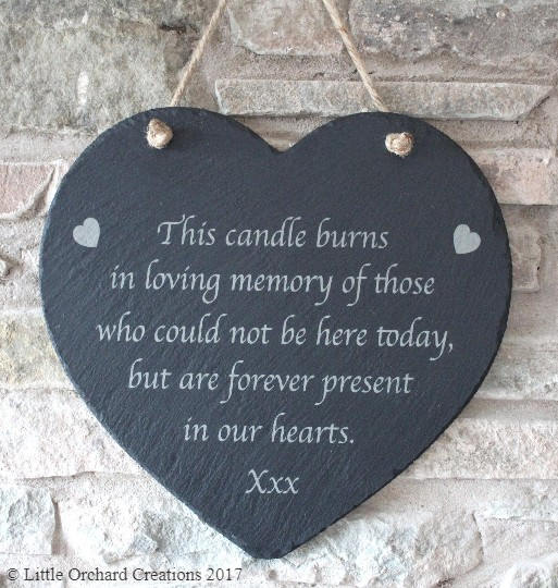 Wedding Memorial Slate Plaque, In loving memory Slate Plaque