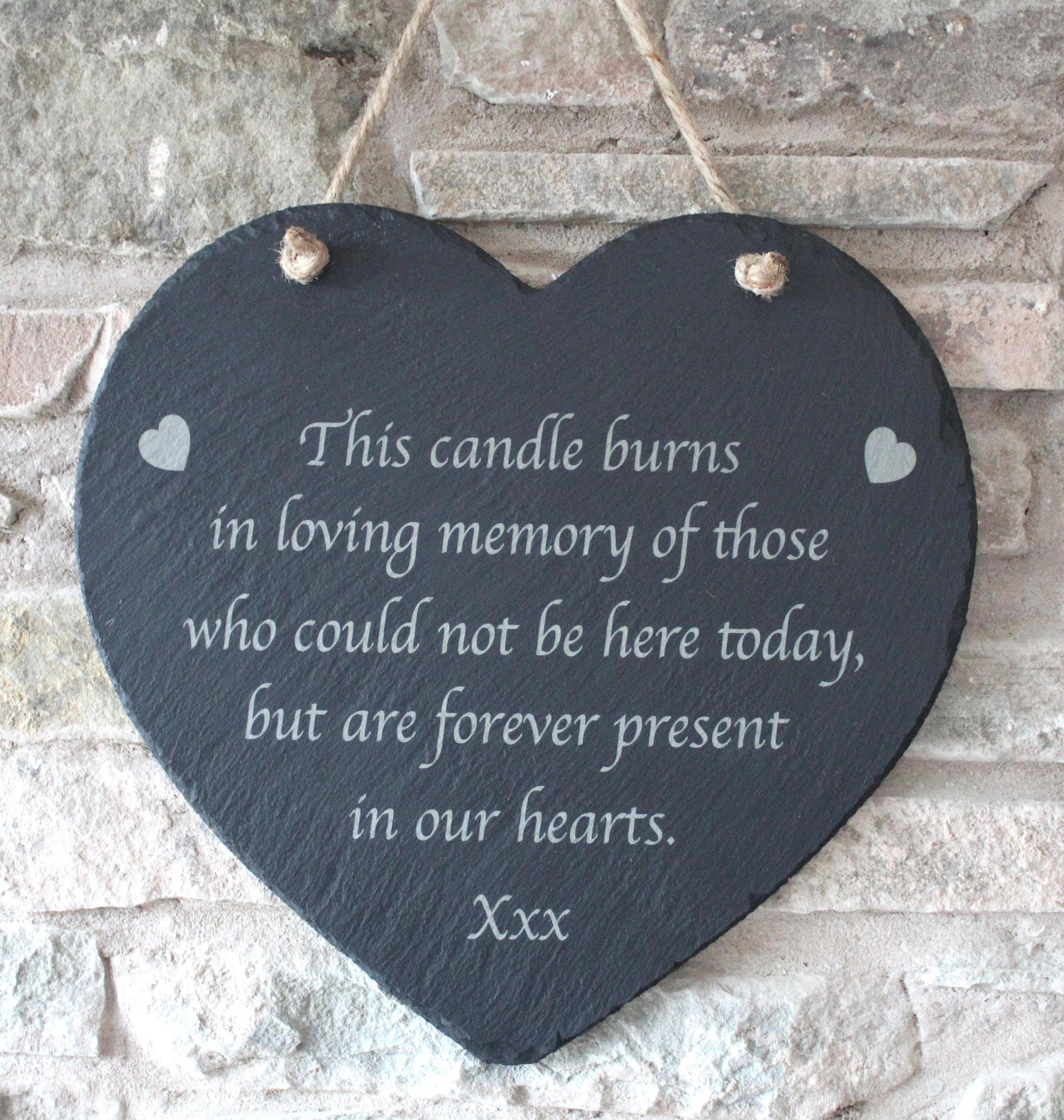 Wedding Memorial Slate Plaque, In loving memory Slate Plaque