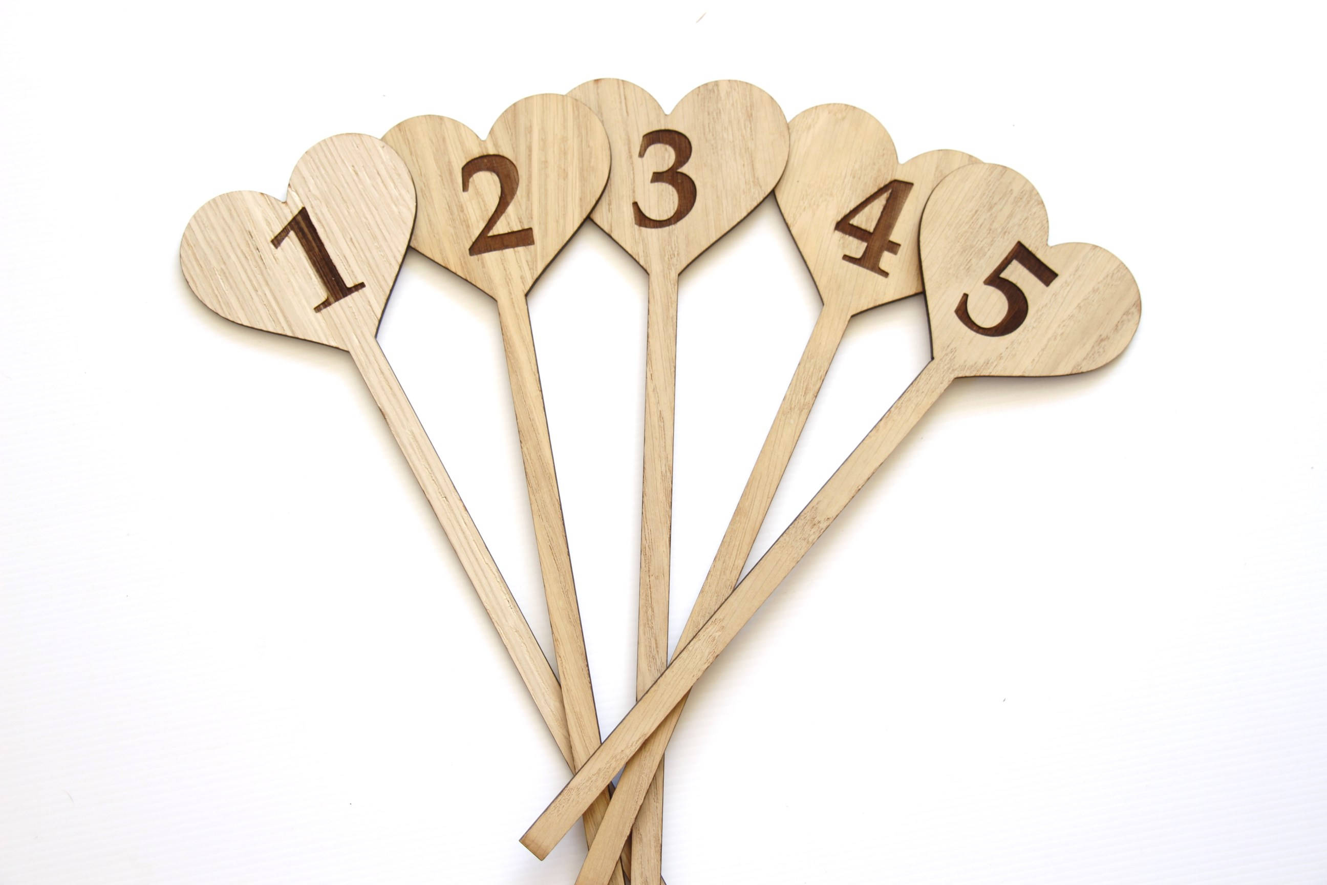 Wedding Table Numbers, Freestanding Wedding Table numbers