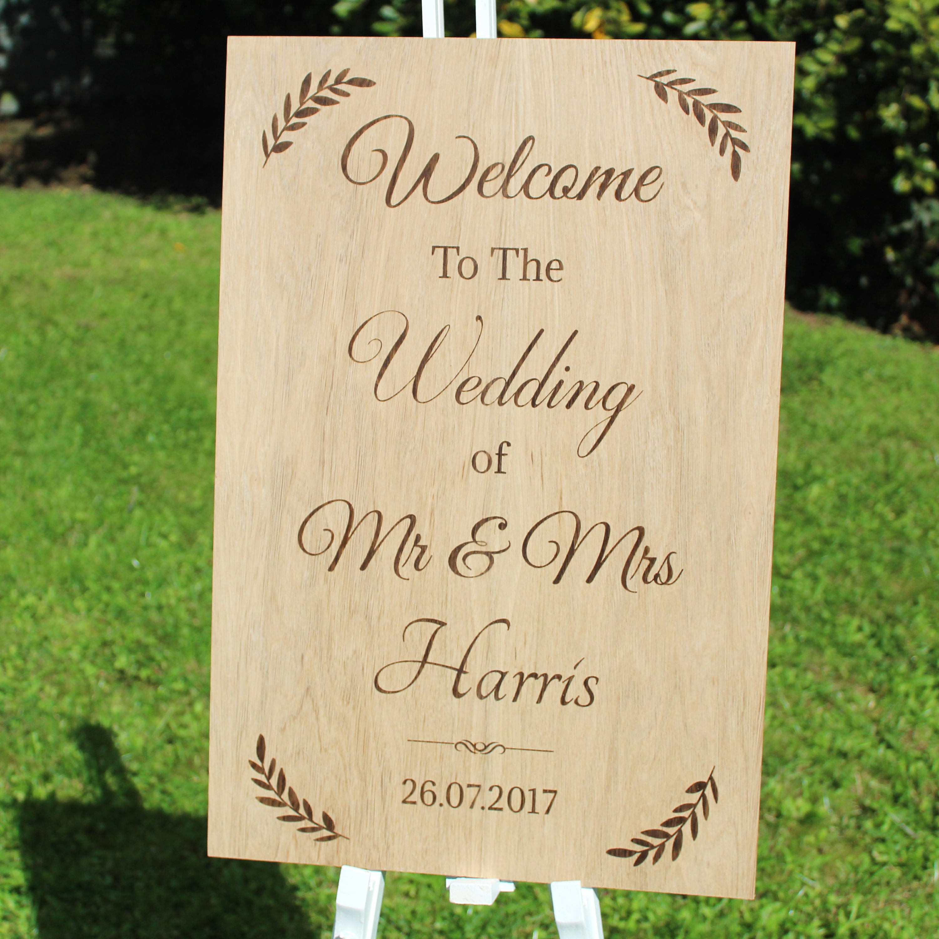 Welcome Wedding Sign, Welcome to our Wedding Wooden Sign